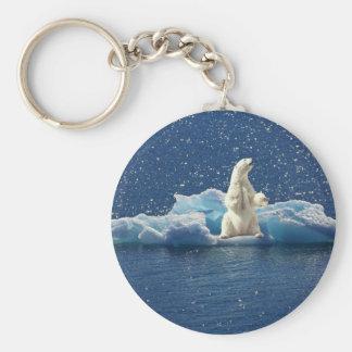 Addieren Sie SLOGAN, um polaren Bären arktisches Schlüsselanhänger