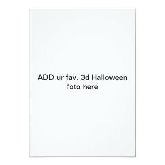 """""""ADDIEREN Sie ur fav. 3d Halloween foto hier"""" 12,7 X 17,8 Cm Einladungskarte"""