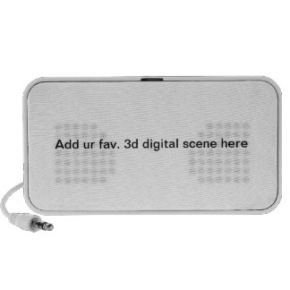 Addieren Sie ur fav. digitale Szene 3d hier iPod Lautsprecher