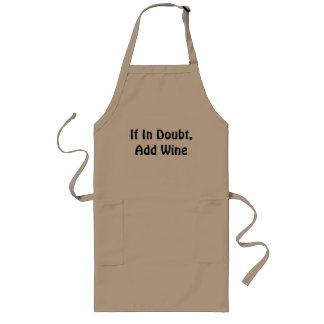 Addieren Sie Wein Lange Schürze