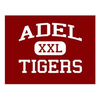 Adel - Tiger - Adel Sekundarschule - Adel Iowa Postkarte