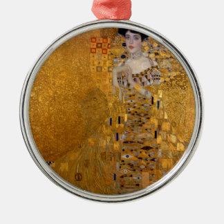 Adele, die Dame im Gold - Gustav Klimt Rundes Silberfarbenes Ornament