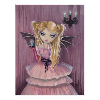 Adeline in der rosa gotischen Vampirs-Fee-Postkart