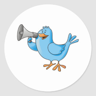 Adesivo Twitter-Vogel Runder Aufkleber