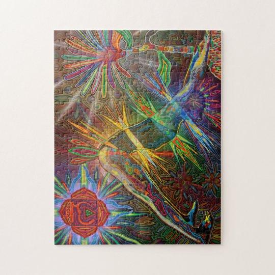 adho mukha svanasana digitally - 2012 as puzzles