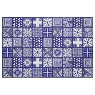 Adire Muster - tief Blau und Weiß Stoff
