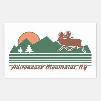 Adirondack Berge NY Rechteckiger Aufkleber