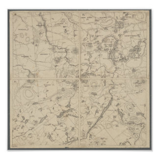 Adirondack See-Regions-Wand-Kunst Poster