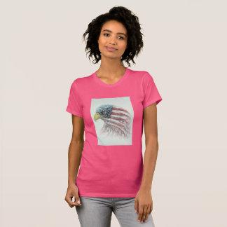 Adler, Adler mit amerikanischer Flagge, T-Shirt