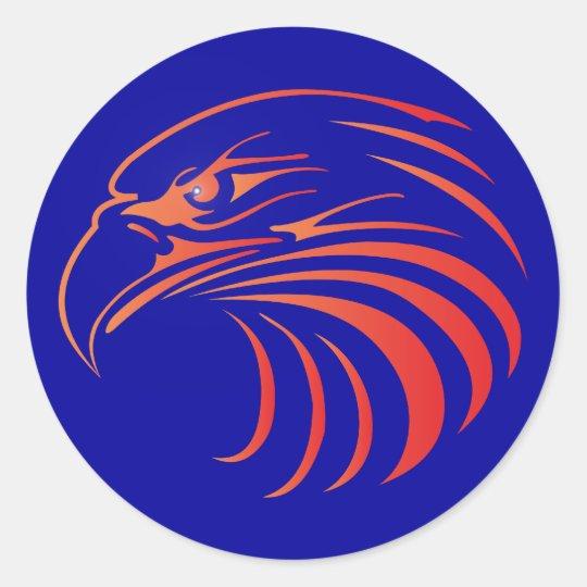 Adler eagle Kopf head Runder Aufkleber