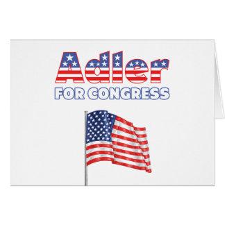 Adler für Kongress-patriotische amerikanische Flag Grußkarte