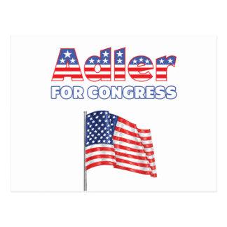 Adler für Kongress-patriotische amerikanische Flag Postkarten