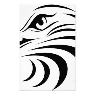 Adler-Gesichts-Silhouette Briefpapier