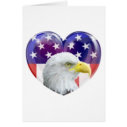 Adler-Liebeherz der amerikanischen Flagge Karte