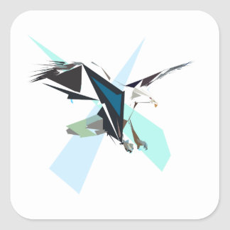 Adler Quadratischer Aufkleber