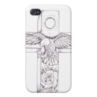 Adler-Rose in einem Kreuz Etui Fürs iPhone 4