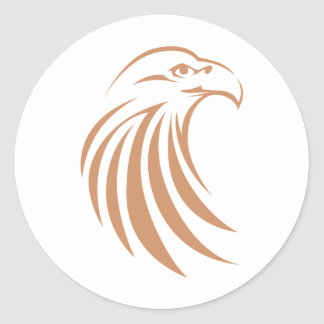 Adler-Shirt-Logo der Adler-Shirt-| cooles Runder Aufkleber