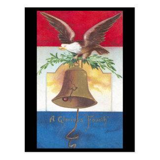 Adler und Freiheits-Bell-amerikanischer Postkarte