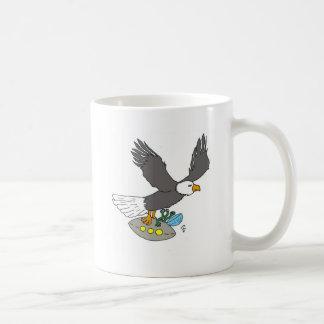 Adler und Raumschiff Kaffeetasse