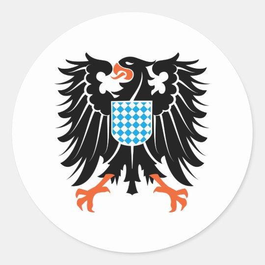 Adler Wappen Bayern eagle crest Bavaria Runder Aufkleber