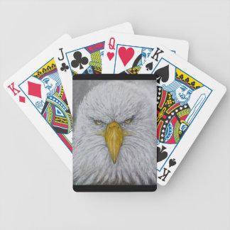 Adler, Weißkopfseeadler, Adler mit amerikanischer Bicycle Spielkarten