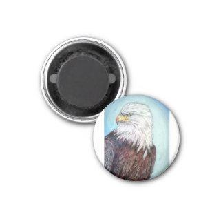 Adler, Weißkopfseeadler, Adler mit amerikanischer Runder Magnet 3,2 Cm