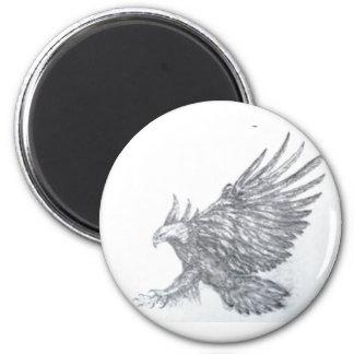 Adler, Weißkopfseeadler, Adler mit amerikanischer Runder Magnet 5,7 Cm