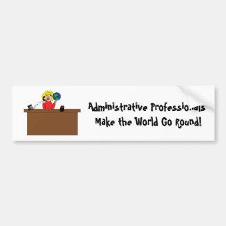 Administrativer beruflicher Welt(blonder) Autoaufkleber