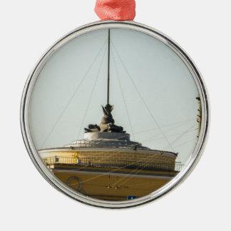 Admiralitäts-Gebäude Rundes Silberfarbenes Ornament