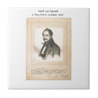 Adolf von Henselt Keramikfliese