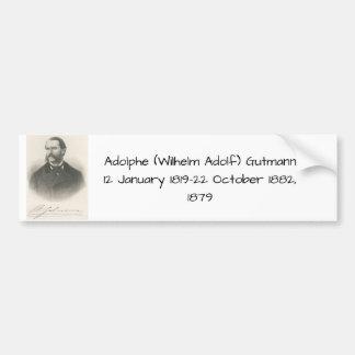 Adolphe (Wilhelm Adolf) Gutmann Autoaufkleber