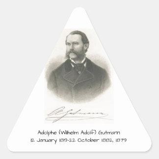 Adolphe (Wilhelm Adolf) Gutmann Dreieckiger Aufkleber