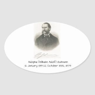 Adolphe (Wilhelm Adolf) Gutmann Ovaler Aufkleber