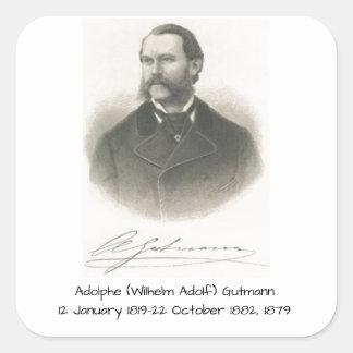Adolphe (Wilhelm Adolf) Gutmann Quadratischer Aufkleber