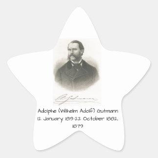 Adolphe (Wilhelm Adolf) Gutmann Stern-Aufkleber