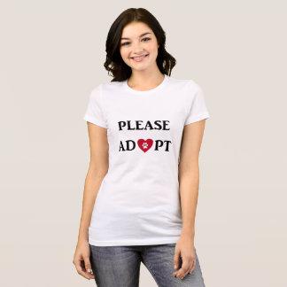 """""""Adoptieren Sie bitte"""" TierT - Shirt"""