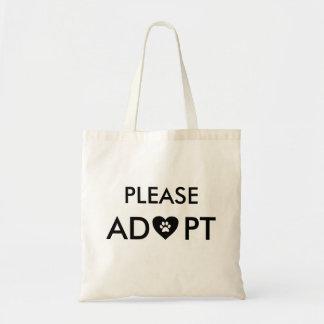 """""""Adoptieren Sie bitte"""" TierTaschen-Tasche Tragetasche"""