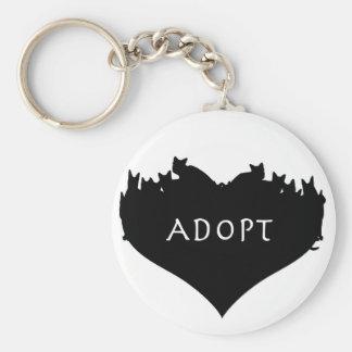 Adoptieren Sie ein Haustier Keychain Standard Runder Schlüsselanhänger