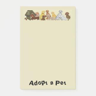 Adoptieren Sie ein Haustier Post-it Klebezettel