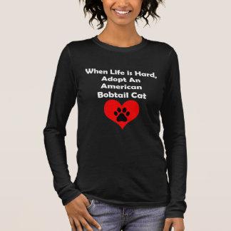 Adoptieren Sie eine amerikanische Bobtail Katze Langarm T-Shirt