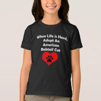 Adoptieren Sie eine amerikanische Bobtail Katze T-Shirt