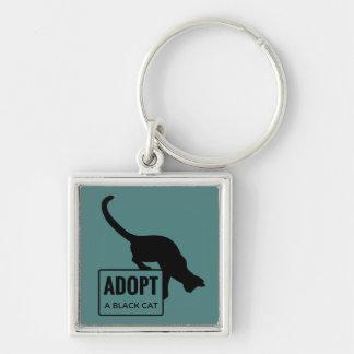 Adoptieren Sie eine schwarze Katze Schlüsselanhänger