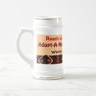 adoptieren Sie einen gebürtigen Ältestes Stein Bierglas
