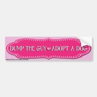 Adoptieren Sie einen HundeAutoaufkleber Autoaufkleber