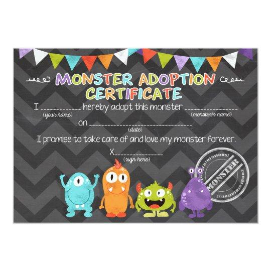 Adoptieren Sie einen Monstergeburtstag 12,7 X 17,8 Cm Einladungskarte