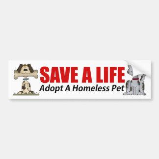 Adoptieren Sie einen obdachlosen Haustier-Autoaufk Autosticker