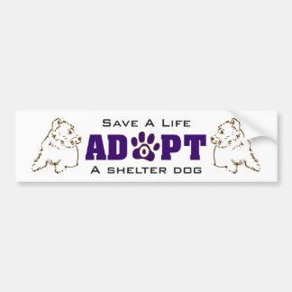 Adoptieren Sie einen Schutz-Hund 1 Autoaufkleber