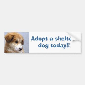 Adoptieren Sie einen Schutzhund Autoaufkleber