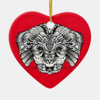Adoptieren Sie einen Welpen Keramik Ornament