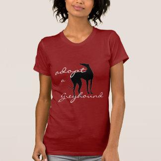 Adoptieren Sie einen Windhund-Hund Tshirts